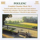 Poulenc: Complete Chamber Music Vol.1